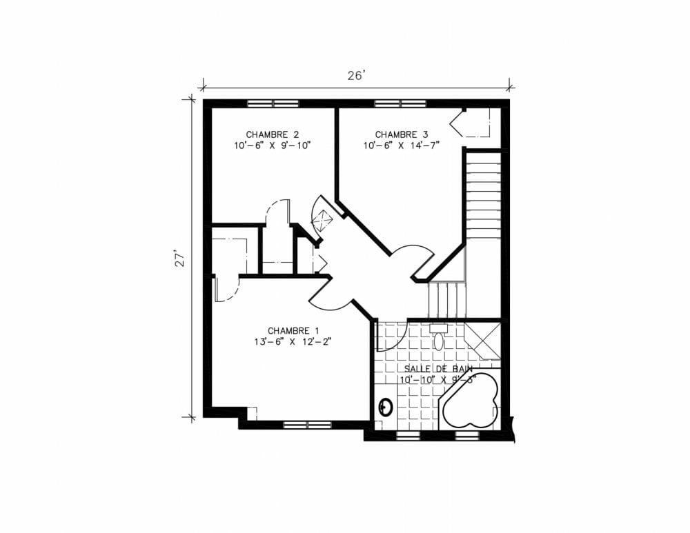 Projet de maisons neuves à Ste-Sophie Modèle LAURIER