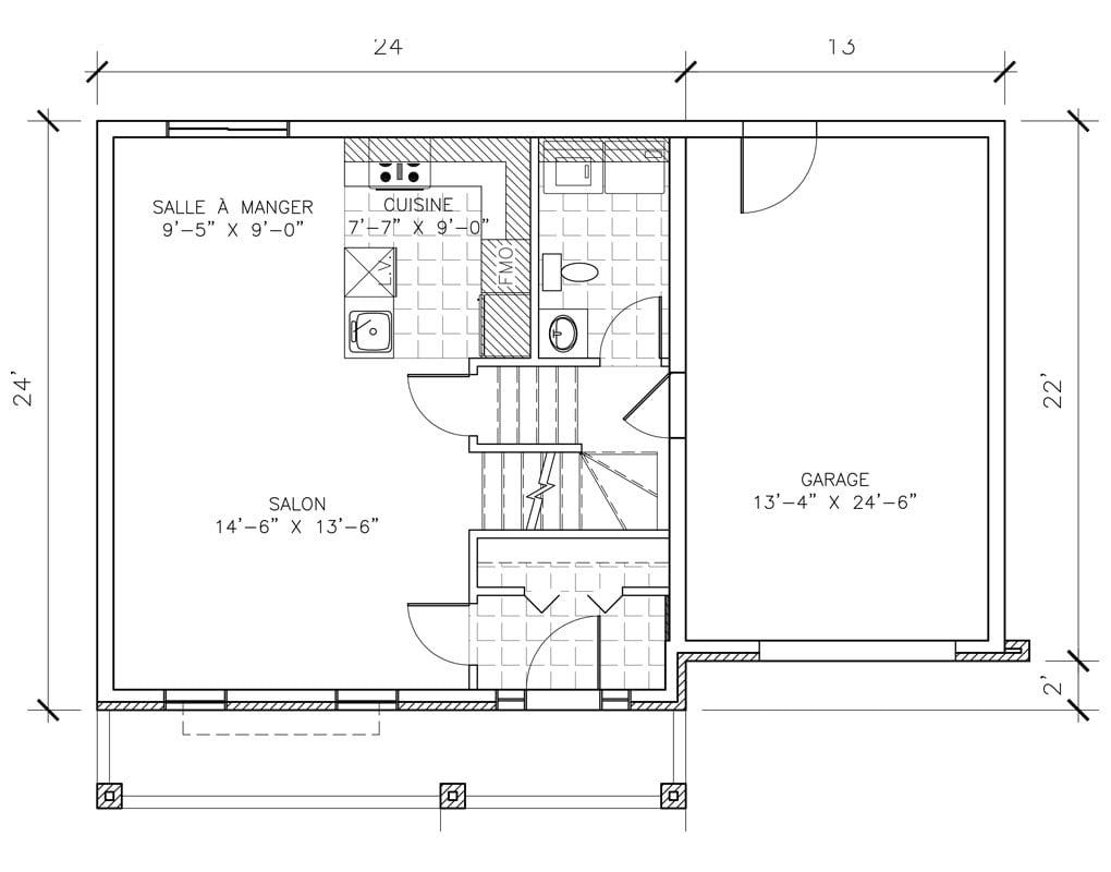 Les habitations Innovatel maisons neuves Ste-Sophie Beauvoir plan RDC